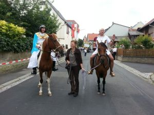 Festzug in Rödelsee, Foto: Weinmann