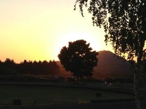 Sonnenuntergang von der Ovalbahn aus gesehen - Foto: privat