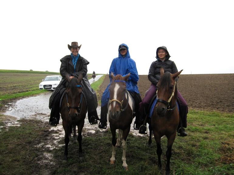 Spaß kann man auch im Regen haben! - Foto: privat