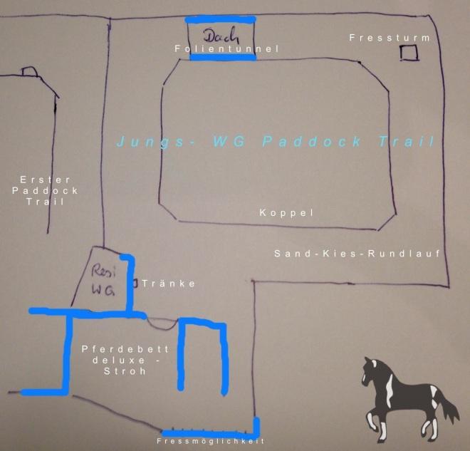 Der zweite Paddock-Trail - eine ebenfalls unheimlich professionelle Zeichnung